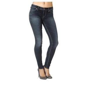 Suki Mid Super Skinny Silver Jeans